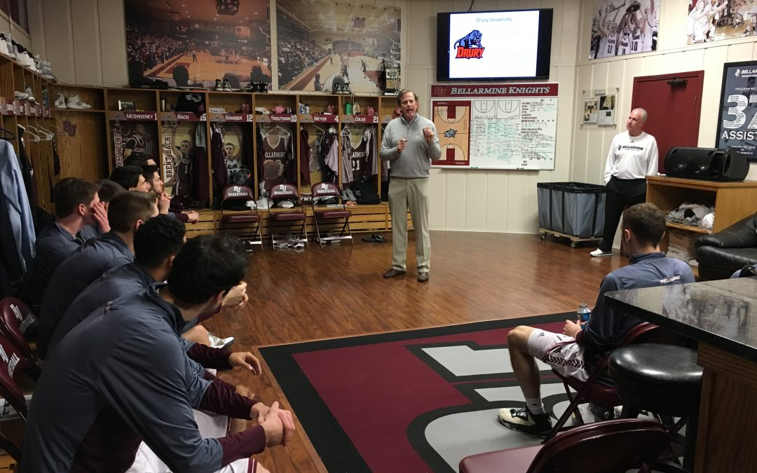 """Blog 45:  Being """"up close and personal"""" with Bellarmine Greatness and understanding better now where it comes from!"""